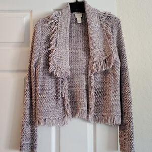 Chico's Fringe Trim Sweater